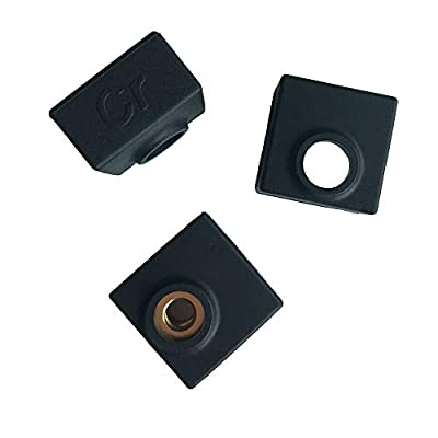Creality 3D Printer Heater Block Silicone Cover MK7/MK8/MK9 Hotend for Creality CR-10,10S,S4,S5,Ender 3, Ender 3 Pro,ANET A8 (Pack of 3)