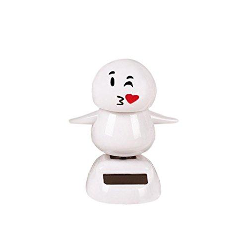 Ratchet Girl Halloween Costume (Christmas Snowman Solar Powered Shaking Head Dancing Animal Swinging Car Decor Emoji,Sulear White B)