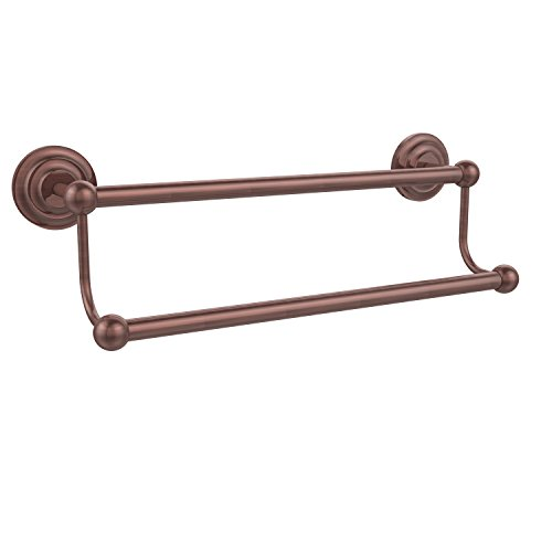Allied Brass PQN-72/18-CA Prestige Que New Collection 18 Inch Double Towel Bar Antique Copper