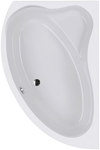 Acryl-Eckbadewanne Cejlon | Eckwanne | Rechte Ausführung | 150 x 100 cm | Weiß | Wanne | Badewanne | Bad | Badezimmer | Acryl | Komfort