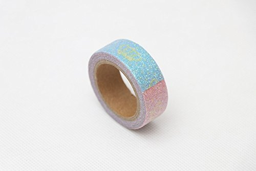 ArMordy - 3pcs/15mm3m Crown Glitter Washi Tape Stationery Kawaii Scrapbooking Tools Masking Tape Adhesiva Decorativa Colored [3pc]