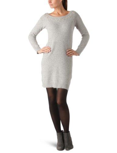 Grau Kleid mini P2788 Damen perle Chine KOOKAI qvwIx5TBv