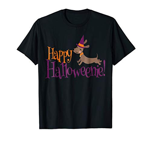 Happy Halloweenie Halloween Dachshund Dog Gift t-Shirt ()
