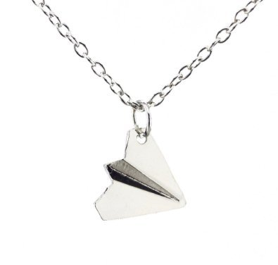 Paper Airplane Paper plane Necklace One Direction Harry Styles Unique Jewellery (Necklaces One Direction compare prices)