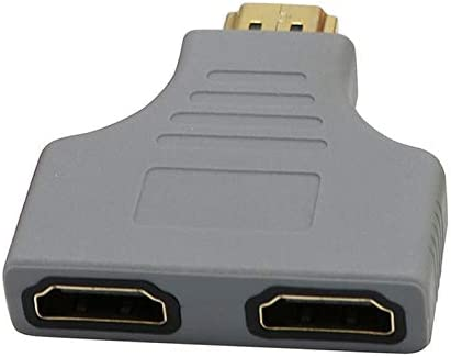 Black Yiany HDMI Male to 2 HDMI Female Splitter Adapter Cable 1080P HDMI Splitter 1 in 2 Out