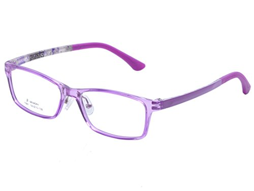 De Ding Children's Lightweight Optical Glasses Frame with Silicon nose pads (purple, ()