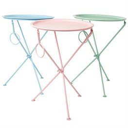 Sass Belle Pastel Folding Coffee Table With Round Tray