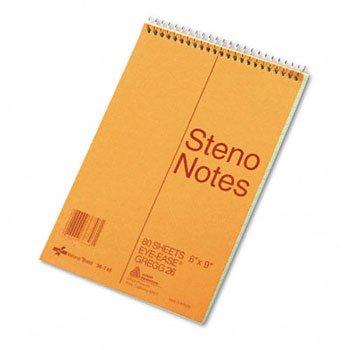 National Brand Brown Board Cover Steno Notebook, Gregg, Gree