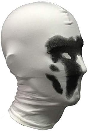 Fanville Effrayant Rorschach Masque Encre Sensible Halloween Visage Costume Gardien Couvre-Visage Masque Cosplay Impression Num/érique