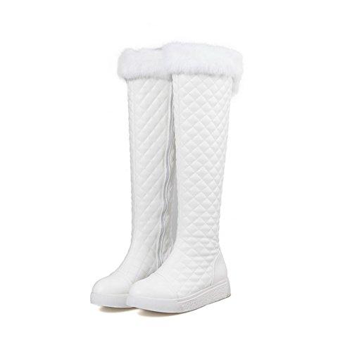 1TO9Mns02121 - Sandali con Zeppa Donna, Bianco (White), 35