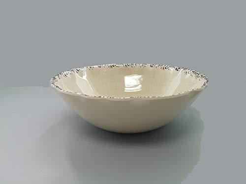 Gourmet Art Crackle Melamine 12Serving Bowl,Salad, Mixing, Pasta Ivory