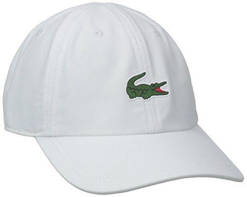 Lacoste Men's Sport Tennis Microfiber Crocodile Cap, White, One Size