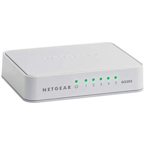 NETGEAR 5Port Gigabit Ethernet Unmanaged Switch Desktop 101001000Mbps GS205
