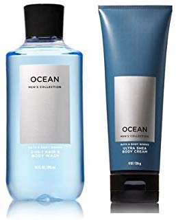 Bath and Body Works Men's Collection Ultra Shea Body Cream & 2 in 1 Hair and Body Wash ()