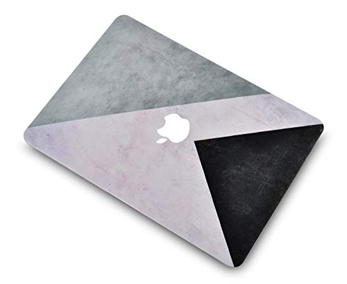"LuvCase2in1LaptopCaseforMacBookPro 15"" Retina Display (2015/2014/2013/2012) A1398 (NO CD Drive)RubberizedPlasticHardShell Cover &KeyboardCover(Black White Grey)"