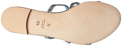 Frances Valentine Womens Miaspml Sandal Silver Printed Metallic Leather HvkuVQFm