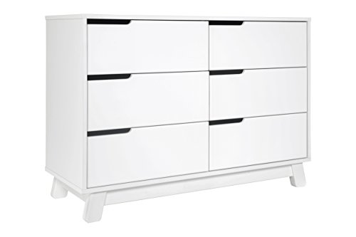 Babyletto Hudson 6-Drawer Assembled Double Dresser, White