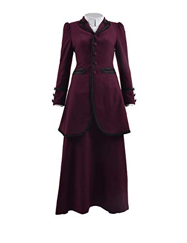 (Adults 13th 12th 11th Doctor Series Coat Costume for Halloween (Women L, Missy)