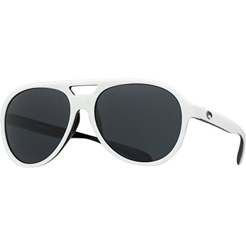 Costa Del Mar Seapoint Adult Polarized Sunglasses, White/Black/Gray 580P, Large