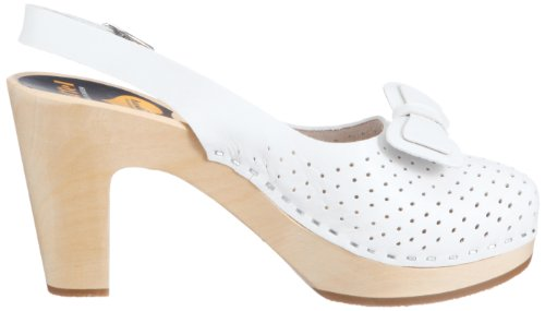 Hasbeens mujer vestir Blanco Swedish cuero Zapatos para de 302 Mimmi de TanOUqB1