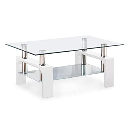 Glass Coffee Table With Shelf 5