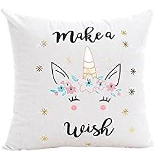 2700Lon lindo unicornio funda de almohada sofá cama almohada funda de cojín decoración del hogar