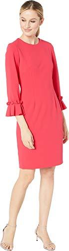 Tahari by ASL Women's 3/4 Sleeve Crepe Sheath with Sleeve Detail Raspberry Rose 4