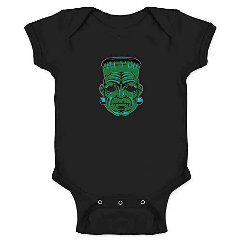 Frankenstein Retro Mask Halloween Costume Horror Black 6M Infant Bodysuit]()