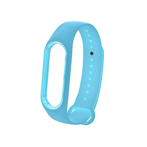 - CapsA Compatible for XIAOMI MI Band 4 Watch Band Replacement Sport Luminous Silicon Soft Band Wristband Strap Large Size (Sky Blue)