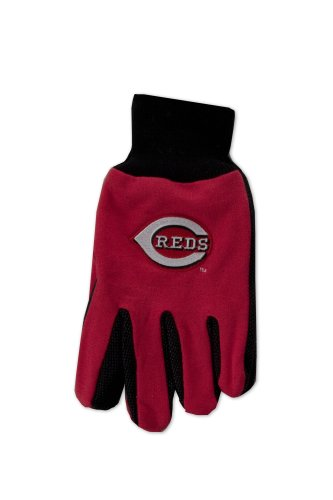 MLB Cincinnati Reds Two-Tone Gloves, Red/Black ()