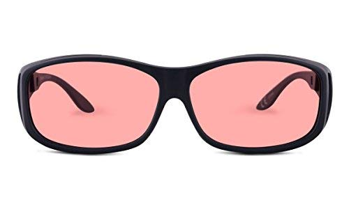 TheraSpecs WearOver Migraine Glasses for Light Sensitivity, Photophobia and Fluorescent Lights | Fits Over Prescription Eyewear | Unisex | Indoor Lenses by TheraSpecs