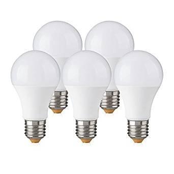 Bombilla LED E27 10W (Equivalente a 60W), Pack 5 unidades, Blanco Neutro