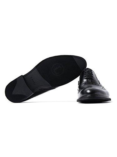 Loake Herren Matt Schwarz Leder Demon Brogue Schuhe Black