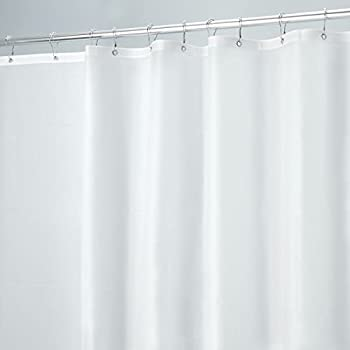 MDesign Mildew Resistant 10 Gauge Heavy Duty Vinyl Shower Curtain Liner   72