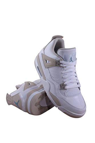 Jordan Air 4 Retro GG Linen Big Kid's Shoes White/Boarder Blue/Sand 487724-118 (7.5 M US) by Jordan