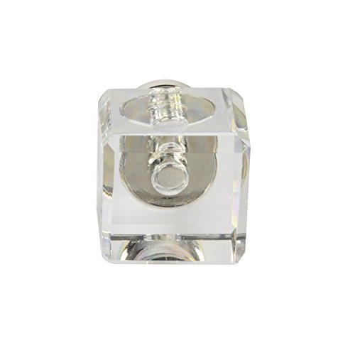 #G-80 CKP Brand Elegance Glass Collection 1 in. (25mm) Clear Glass Knob with Polished Nickel Base - 10 Pack by CKP (Image #2)