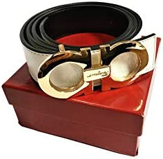 0b902df76116 Salvatore Ferragamo Adjustable Reversible Belt White Black with Gold Buckle