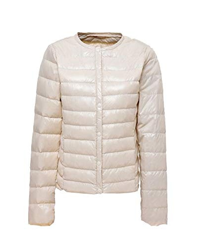 Warm LaoZanA Thin Down Outerwear Jacket Women's Sleeve White Coats Long Slim 5qwqO7xRrH