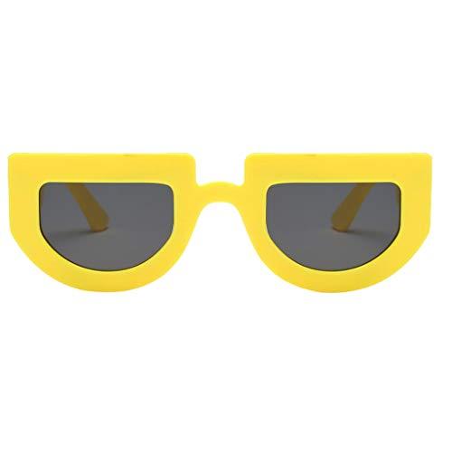Prop F Demi Fête des Fityle Yeux Forme Lunettes jaune noir cercle Lunettes Nouveauté Soleil gris Drôle de Costume Er6pqr
