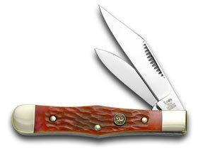 Hen and Rooster Red Pickbone Mini Coke Bottle Pocket Knife Knives
