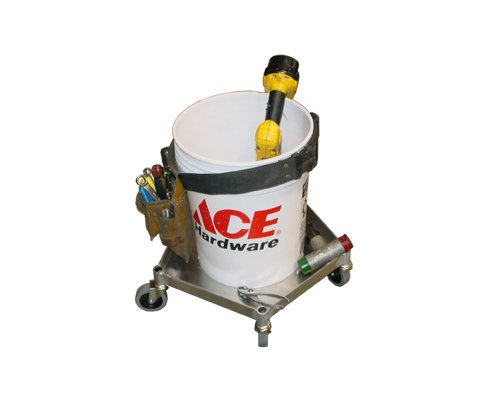 Prairie View Ind. Food Service HH319P Handi-Helper Dolly for 5 gal. Containers, 19 1/2'' Width x 5'' Height x 19 1/2'' Length