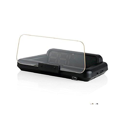 RaiFu C500 HUD ヘッドアップディスプレイ 汎用 自動車 スピードメーター デジタル 水平反射型 プロジェクター ブルーとホワイトとレッド B07DLVNQJC  ブルーとホワイトとレッド