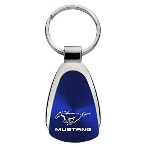 Ford Mustang Blue Teardrop Key Fob Authentic Logo Key Chain Key Ring Keychain Lanyard