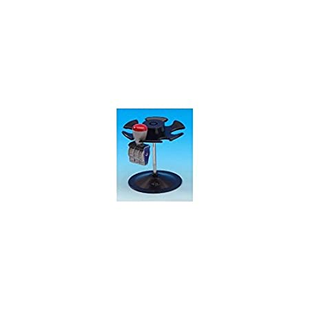/Stamp Holder with 6/Compartments/ /Round noir Black Wedo 0646/