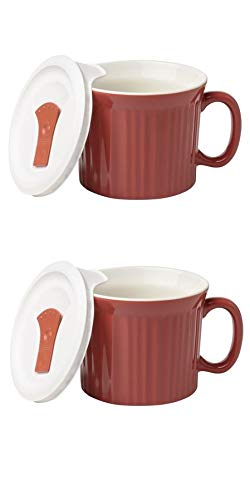 Pop-Ins 20-oz Mug w/ Vented Lid - 2 Pack (Red Clay) ()