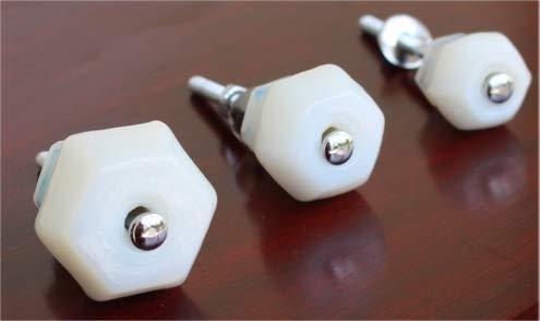 Milk White Depression Glass Cabinet Knobs 1 Inch Pulls Vintage Dresser, ()