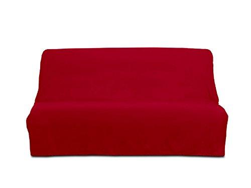 Soleil d 'Ocre Panama Clic Clac Sofa Bed Cover, Cotton 200 x 140 cm, red, 190 x 204 Soleil d'Ocre 100030