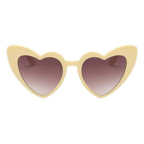 Clásico ojos Gafas corazon Proteccion de de Amor Estiloso Polarizado UV Conformado Salirse los Gafas Retro Estilo Hzjundasi sol gato Ojo Amarillo2 Eyewear dxwqB0R6dS