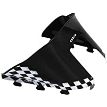PowerMadd 11120 Cobra Windshield for Polaris Indy - Black with white checkers - Low height by PowerMadd