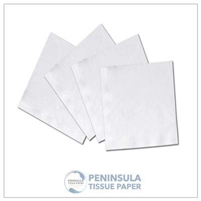 - Peninsula Tissue Paper Beverage Napkins| 500 napkins per case |8 cases per box |4000 napkins per box |Cocktails, Juice and coffee napkin |Party item | Environment friendly |Soft fabric